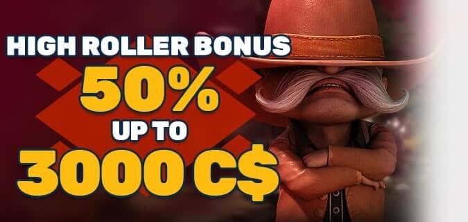 PlayAmo High Roller Bonus